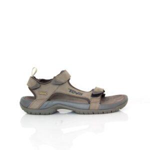 Teva Tanza Leather Brown Mens Sandals