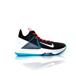 Nike Lebron Witness IV Black/Chile Red/Glass Blue/White BV7427-005 Mens Casual shoe