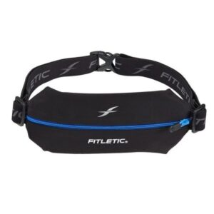 Fitletic Mini Sport Belt - Black / Blue Zip