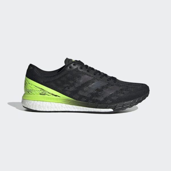 Adidas Adizero Boston 9 Core Black/Core Black/Signal Green EG4657 Mens