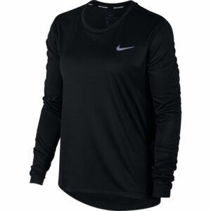 Nike Dri-Fit Miler Top LS Black/Silver Womens