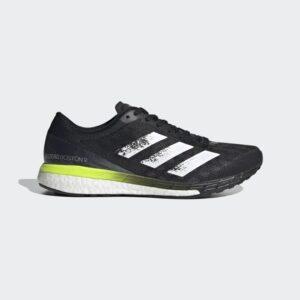 Adidas Adizero Boston 9 Core Black / Cloud White / Solar Yellow FY0343 Mens