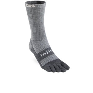 Injinji Outdoor 2.0 Midweight Crew Charcoal Toe Sock