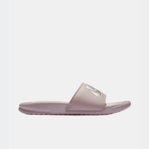Nike Benassi JDI Slide Particle Rose/Metallic Silver Womens