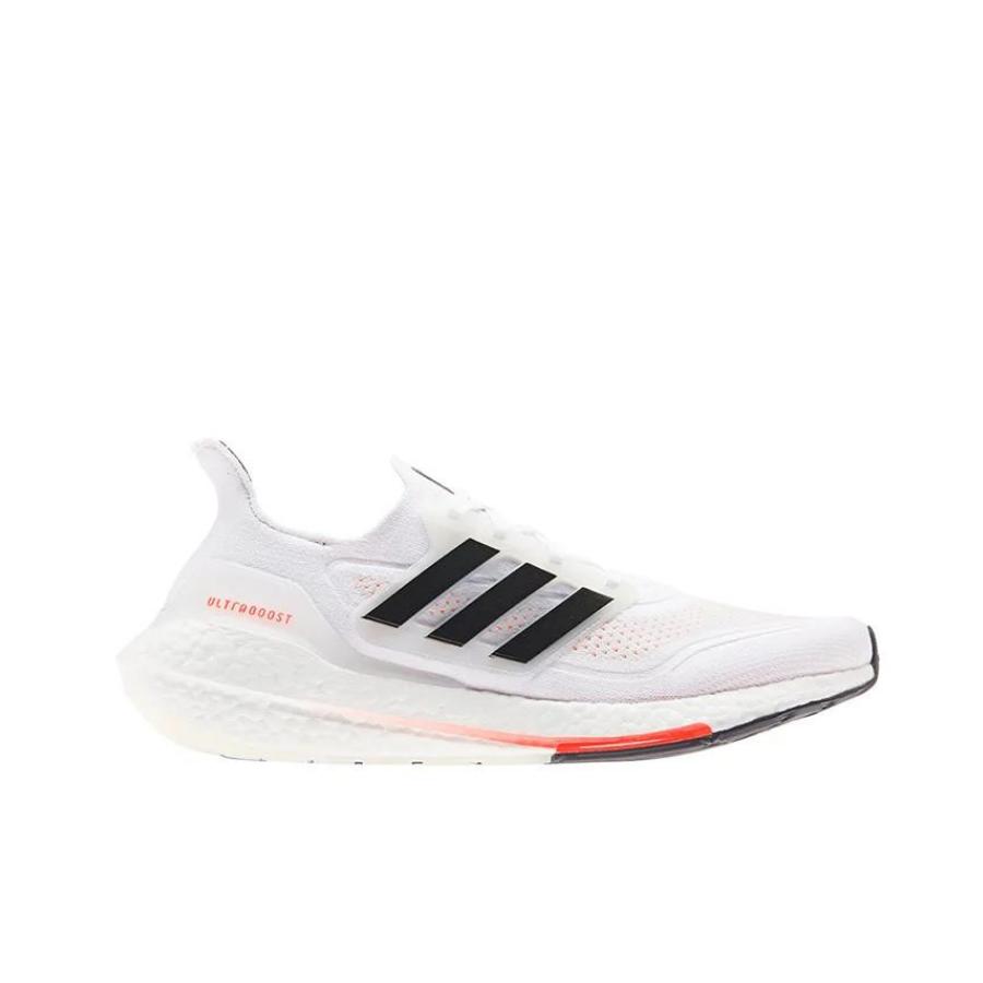 Adidas Ultraboost 21 Cloud White/Core Black/Solar Red Mens